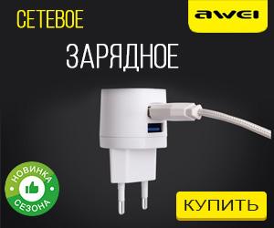 Сетевое зарядное Awei